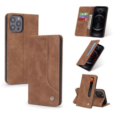 아이폰11 PRO MAX/심플 가죽 카드 지갑 플립 폰케이스