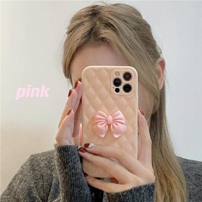 아이폰12 11 pro max xs 8 핑크 리본 실리콘 폰케이스