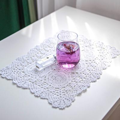 사각 쉘 플라워 도일리페이퍼 레이스 테이블매