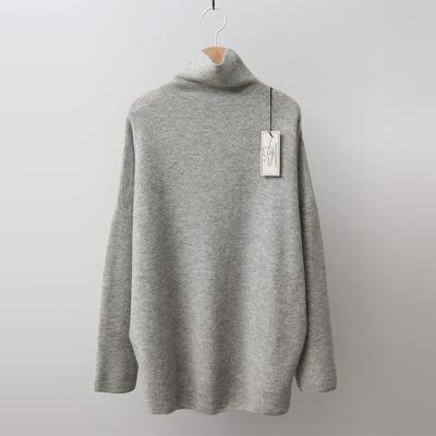 Strick Cashmere Wool Oblique Turtleneck Sweater