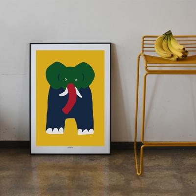 [카멜앤오아시스] Twins Yellow 코끼리 포스터