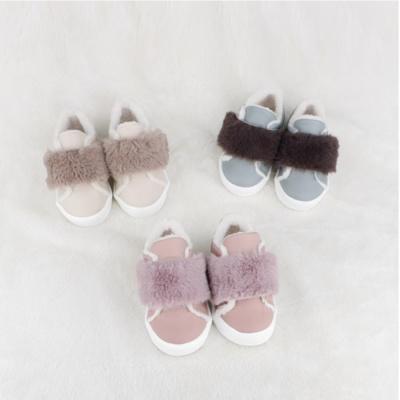 유아 겨울신발 퍼벨크로 방한슈즈
