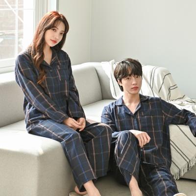 라떼 피치 기모 커플 잠옷