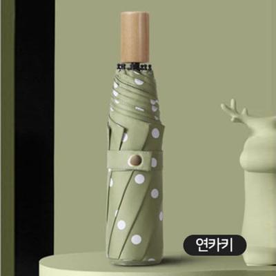 원목 손잡이 3단 고급 UV 차단 이쁜 수동 우산 연카키