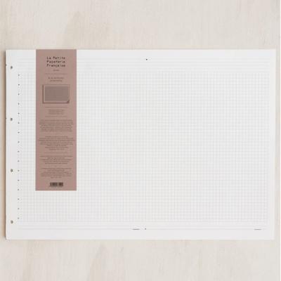 [라 페티트 페퍼티트 프랑세스]La Petite Paperterie Francaise 노트패드&캘린더 격자 A3 화이트