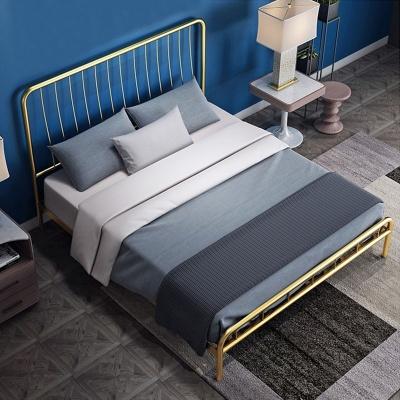 아파트32 홈 골드 철제 비트 침대 프레임 퀸 Q