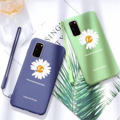 아이폰xr xs max 8 7+ 국화꽃 스트랩 핸드폰줄 케이스