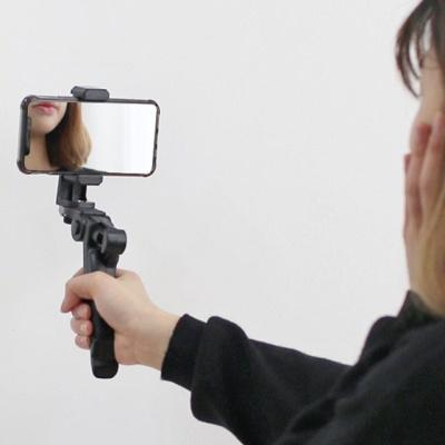 스마트폰 VLOG영상촬영 핸드그립 셀카봉 삼각대 R5540
