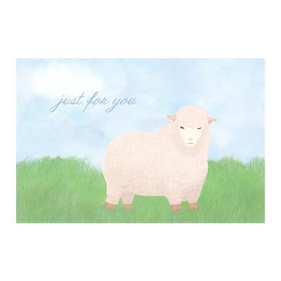왈가닥스 메세지 포스트카드 엽서 - sheep