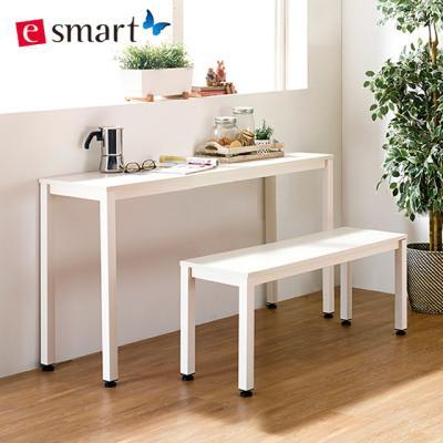 스틸 테이블1200x400+벤치의자세트 (일자다리)