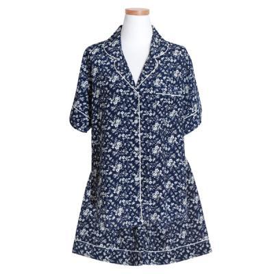 [쿠비카]반소매 카라넥 투피스 3부팬츠 여성잠옷 W431