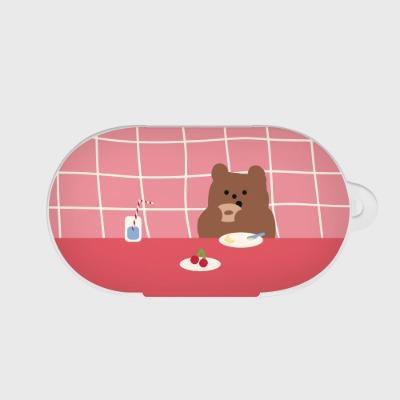 pink check brunch gummy 갤럭시 버즈케이스