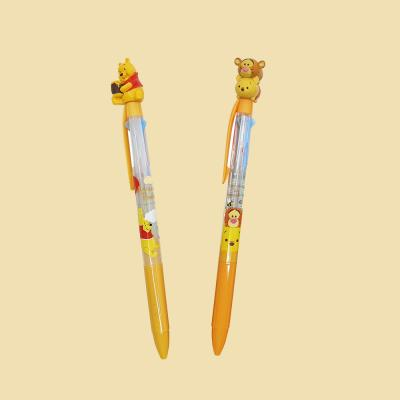 디즈니 귀여운 예쁜 푸우 티거 캐릭터 0.5 3색 볼펜