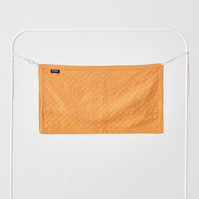 허니콤 플랜지 엣지 쿠션커버 블레이징 오렌지 35x65
