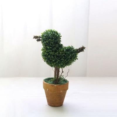 조화 화분 새 화분조화 인테리어용품 인조나무