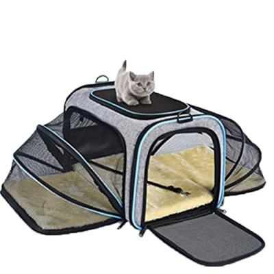 봉봉펫 반려동물 확장형 매쉬 애견 이동가방 이동장