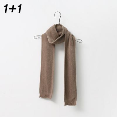 [1+1] Soft Mini Knit Muffler 2qty