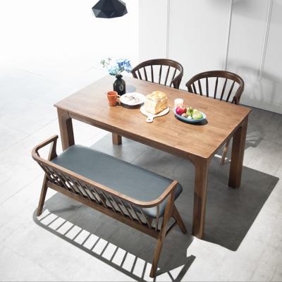 퍼피노 샘2 원목 4인식탁+벤치+의자 세트cc034-1