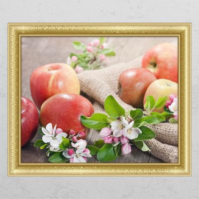 cl401-빨간사과와꽃_창문그림액자