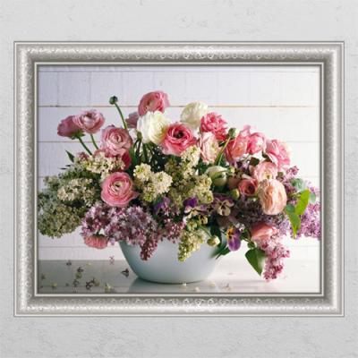 cl804-재물이담긴꽃바구니5_창문그림액자