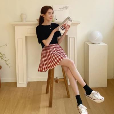 여성 미니 스커트 치마 팬츠 비야코 아코디언 플리츠