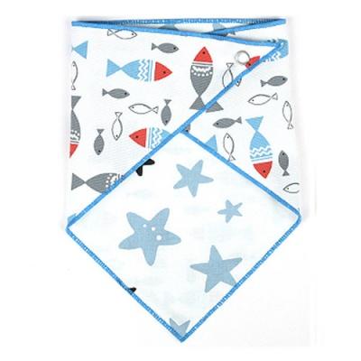 에이에프비 포인트양면 스카프빕 블루물고기