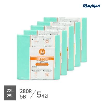 [매직캔] 22/25리터 리필봉투 5개입_(280R5B)