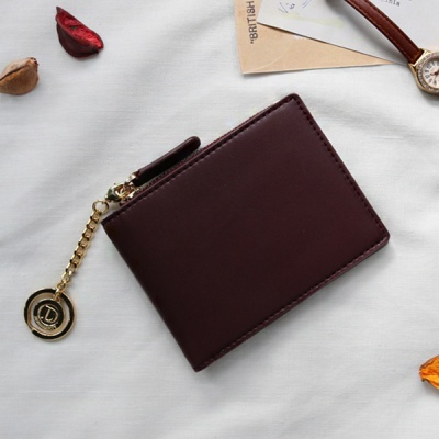 D.LAB Coin Half wallet  - Burgundy