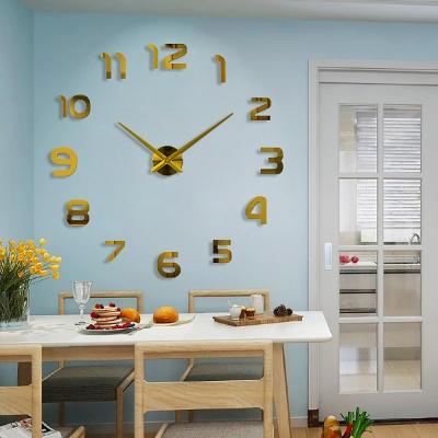 DIY 골드 숫자 붙이는 벽시계