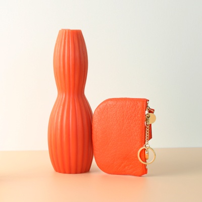 [이니셜 커스텀] Half moon wallet _ Orange