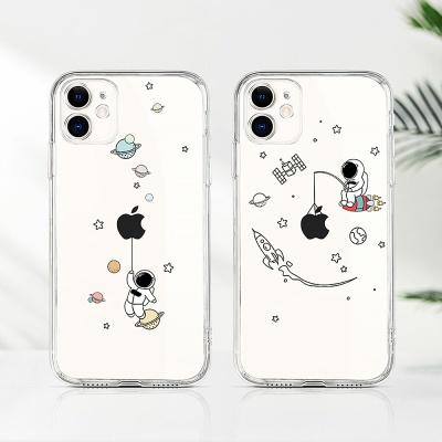 아이폰12 애플 로고 데코덴 캐릭터 스키니 케이스