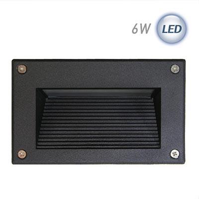 LED 사각 계단매입 6W (블랙)