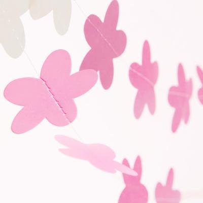 핑크화이트 플라워 모빌 (1개)