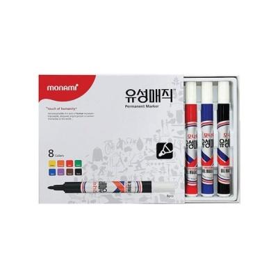 모나미 유성매직 둥근닙 8본세트[OH00032327]