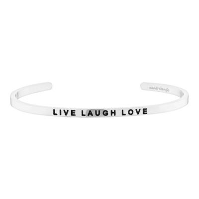 [만트라뱅글] LIVE LAUGH LOVE - 실버