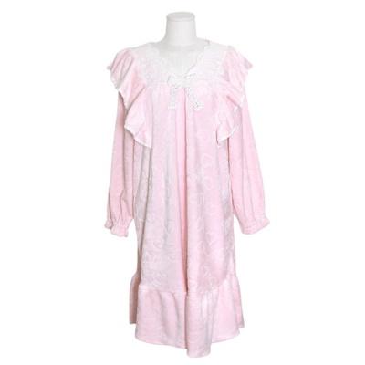 [쿠비카]숄더 레이스 극세사 원피스 여성잠옷 W701