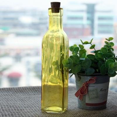 데코 집꾸미기 깔끔 디자인 소품 칼라 유리병 옐로우