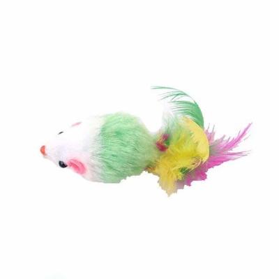고양이장난감 레인보우 쥐장난감(색상랜덤 1P)