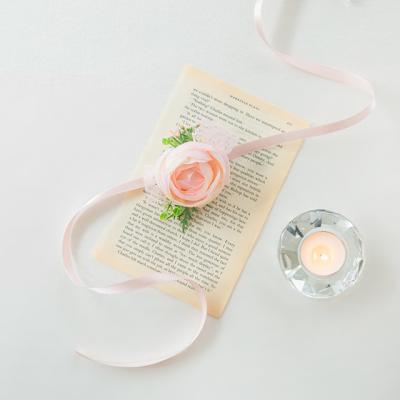 실크플라워 라넌큘러스꽃팔찌 [2color]
