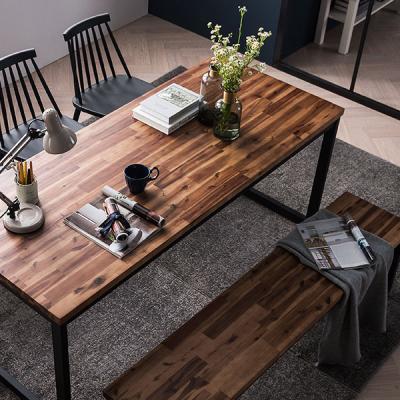 [채우리] 로빈 아카시아원목 6인식탁세트(의자/벤치)