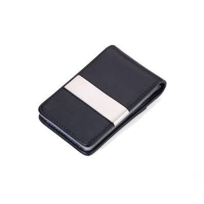 [트로이카] SLIM 가죽 카드&머니클립 블랙 (CCT59/LE)