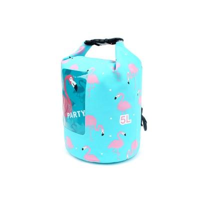 핑크 플라밍고 드라이백 5L