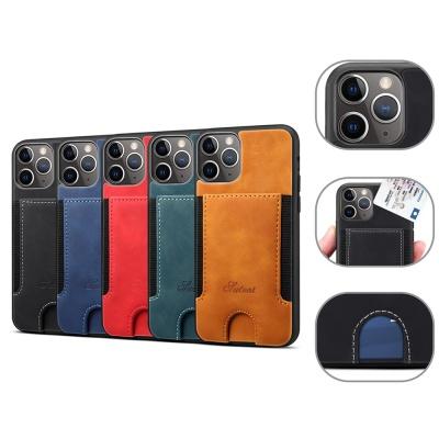 아이폰12 미니 프로 맥스 컬러 가죽 카드 지갑 케이스