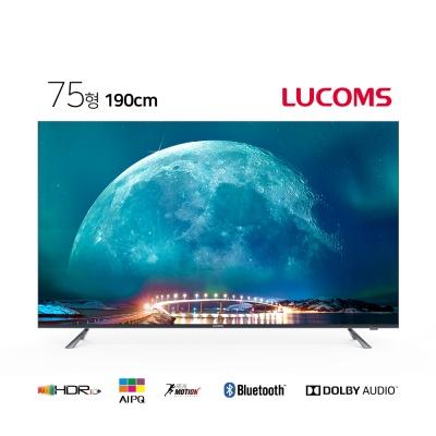루컴즈 75인치  스마트 UHD TV T7503TU 스탠드형