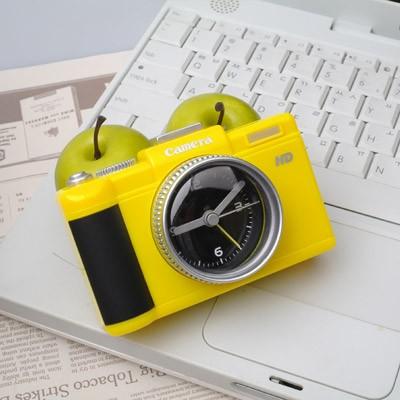 DSLR 카메라 알람시계 - 옐로우