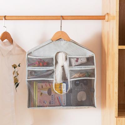 옷걸이형 메쉬 다용도 포켓 소품 수납 정리함