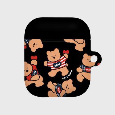Dot dancing bear-black(Hard air pods)