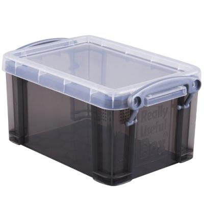[Really Useful] 클리어박스0.7리터 (Litre) 투명블랙 [개/1] 302643