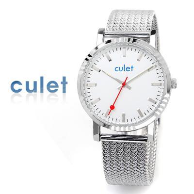 CULET 큐렛 메쉬 밴드 시계 cl10617-SV