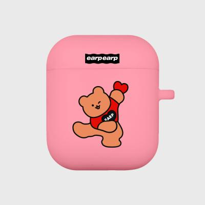 Dot dancing bear-pink(Air pods)
